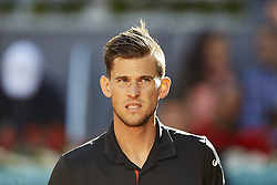 May 13, 2018 - Madrid, Madrid, Spain - Dominic Thiem of Austria looks on in his final match against Alexander Zverev of Germany during day nine of the Mutua Madrid Open tennis tournament at the Caja Magica on May 13, 2018 in Madrid, Spain  (Credit Image: © David Aliaga/NurPhoto via ZUMA Press)