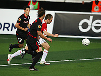 Football<br /> UEFA Europa League 2009<br /> Tromsø v Athletic Bilbao<br /> 27.08.2009<br /> Foto: Tom Benjaminsen, Digitalsport<br /> <br /> Morten Moldskred, Tromsø<br /> Iraola, Athletico Bilbao<br /> Amorebieta, Athletico Bilbao