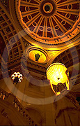 PA Capitol Complex  Art and Architecture, Rotunda Lamps, Lunette by Edwin Abbey, Joseph Huston, Architect