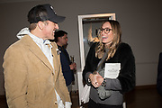 CHRIS PAGE, HAYLEY KORN, The George Michael Collection drinks.  Christie's, King St. London, 12 March 2019