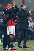 "Kevin Boateng Milan, Massimiliano Allegri Milan, Milano 15/2/2013 .Stadio ""S.Siro"".Football Calcio 2012/2013 Serie A.Milan Vs Parma.Foto Marco Bertorello Insidefoto"