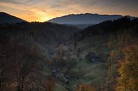 Cultural landscape, Magura, National Park Piatra Craiului, Transylvania, Southern Carpathians, Romania
