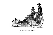 Coventry chair tricycle From Wheels and Wheeling; An indispensable handbook for cyclists, with over two hundred illustrations by Porter, Luther Henry. Published in Boston in  1892