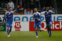FOOTBALL - FRENCH CHAMPIONSHIP 2009/2010  - L1 - OLYMPIQUE MARSEILLE v AJ AUXERRE - 23/12/2009 - PHOTO PHILIPPE LAURENSON / DPPI - OLIECH (AUX) JOY AFTER HIS GOAL