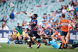 March 18, 2018 - Sydney, NSW, U.S. - SYDNEY, NSW - MARCH 18: Rebels player Amanaki Mafi (8) passes the ball at round 5 of the Super Rugby between Waratahs and Rebels at Allianz Stadium in Sydney on March 18, 2018. (Photo by Speed Media/Icon Sportswire) (Credit Image: © Speed Media/Icon SMI via ZUMA Press)