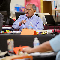 Council delegate Nelson Begaye makes an announcement in memory of Peterson Yazzie during the Navajo Nation Council meeting at the Navajo Department of Education in Window Rock Monday.