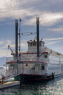 M.S. Dixie II steam-powered stern-wheeled paddle boat at Zephyr Cove, Lake Tahoe, Nevada