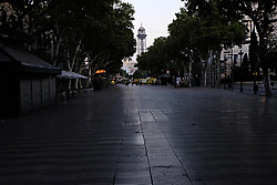 August 18, 2017 - Barcelona, Spain, August 17, 2017, late afternoon : view of the Rambla of Barcelona after a white van running over tourist pedestrians walking down the Rambla in the same style of the Nice or London terrorist attack in 2016 and 2017. Photo credit : Marc Javierre-Kohan / Aurimages (Credit Image: © Marc Javierre Kohan/Aurimages via ZUMA Press)