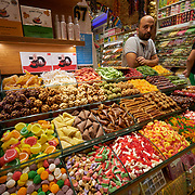 Turkish sweets stall in Egyptian market, Istanbul, Turkey