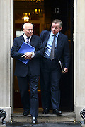 © Licensed to London News Pictures. 12/06/2012. Westminster, UK Secretary of State for Work and Pensions IAIN DUNCAN SMITH (L) and Secretary of State for Education MICHAEL GOVE. Politicians on Downing Street today 12 June 2012. Photo credit : Stephen Simpson/LNP