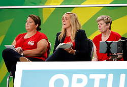 England's coach Tracey Neville (centre) on the side line during the match against New Zealand in the netball at the Gold Coast Convention and Exhibition Centre during day seven of the 2018 Commonwealth Games in the Gold Coast, Australia.