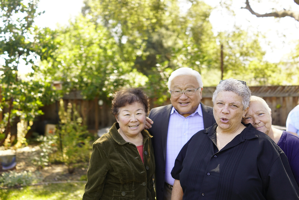 Palo Alto, California - August 16, 2016: Mike Honda during a meet and greet at a home in Palo Alto, California.<br /> <br /> Mike Honda U.S. Representative for California's 17th congressional district, known as Silicon Valley<br /> CREDIT: Matt Roth