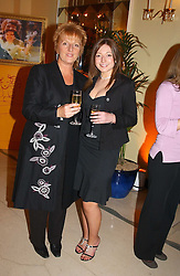 Left to right DAWN GIBBINS winner of the 2002 Veuve Clicquot Award and her daughter MICHELLE GREAVES  at the 2005 Clicquot Award - Business Woman of The Year award ceremony held at Claridge's, Brook Street, London W1 on 28th April 2005.