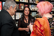 NATHAN SILVER; LI DA KRUGER;; ROXY BEAUJOLAIS;, Relish: My Life on a Plate by Prue Leith. Hatchards. Piccadilly, London. 14 March 2012.
