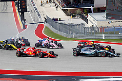 October 21, 2018 - Austin, United States - Motorsports: FIA Formula One World Championship; 2018; Grand Prix; United States, FORMULA 1 PIRELLI 2018 UNITED S GRAND PRIX , Circuit of The Americas  Start  (Credit Image: © Hoch Zwei via ZUMA Wire)