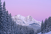 The Canadian Rocky Mountains along the Icefields Parkway at dawn, Banff National Park, Alberta, Canada