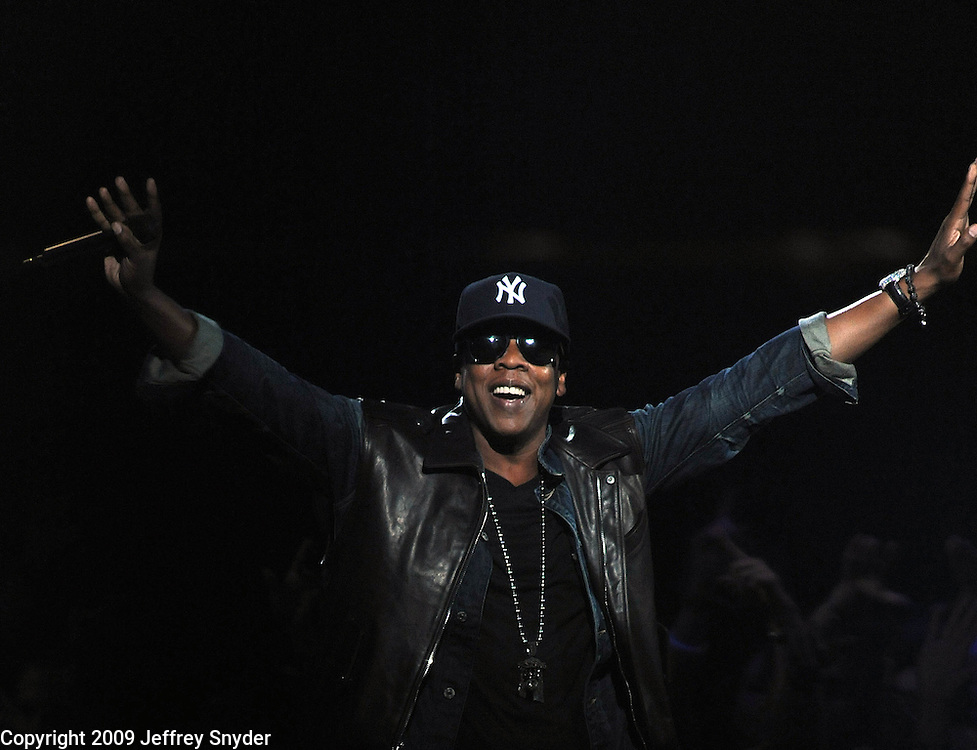 New York, NY-September 13, 2009: Jay-Z performs during the MTV Video Music Awards at Radio City Music Hall on September 13, 2009 in New York City (Photo by Jeff Snyder/PictureGroup)