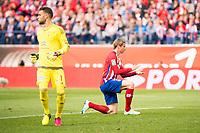 Atletico de Madrid's Fernando Torres and Celta de Vigo's Sergio during La Liga Match at Vicente Calderon Stadium in Madrid. May 14, 2016. (ALTERPHOTOS/BorjaB.Hojas)
