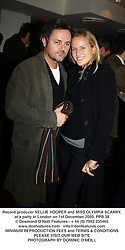 Record producer NELLIE HOOPER and MISS OLYMPIA SCARRY, at a party in London on 1st December 2003.PPB 38