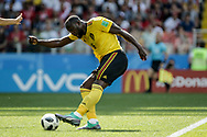 Romelu Lukaku of Belgium scores a goal during the 2018 FIFA World Cup Russia, Group G football match between Belgium and Tunisia on June 23, 2018 at Spartak Stadium in Moscow, Russia - Photo Thiago Bernardes / FramePhoto / ProSportsImages / DPPI