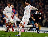 Photo: Alan Crowhurst.<br />Crystal Palace v Swindon Town. The FA Cup. 06/01/2007. Swindon's Sofiane Zaaboub strikes a shot at goal.