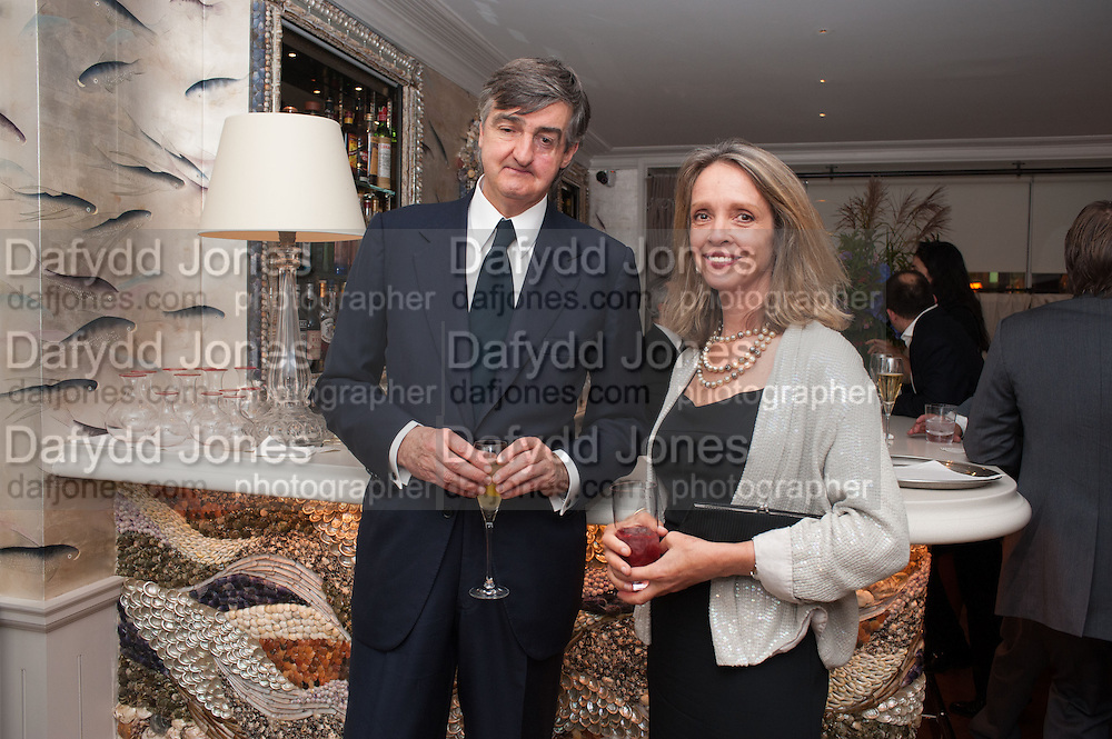 ROBIN BIRLEY; SABRINA GUINNESS, Dinner to celebrate the opening of Pace London at  members club 6 Burlington Gdns. The dinner followed the Private View of the exhibition Rothko/Sugimoto: Dark Paintings and Seascapes.