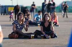 © Licensed to London News Pictures. 31/05/2014. Barcelona, Spain.   Festival atmosphere at Primavera Sound festival Day 4.   Primavera Sound, or simply Primavera, is an annual music festival that takes place in Barcelona, Spain in late May/June within the Parc del Fòrum leisure site. Photo credit : Richard Isaac/LNP