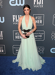 25th Annual Critic's Choice Awards - Los Angeles. 12 Jan 2020 Pictured: Lucy Hale. Photo credit: Jen Lowery / MEGA TheMegaAgency.com +1 888 505 6342