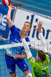Auke van de Kamp #5 of Lycurgus in action during the supercup final between Amysoft Lycurgus - Active Living Orion on October 04, 2020 in Van der Knaaphal, Ede