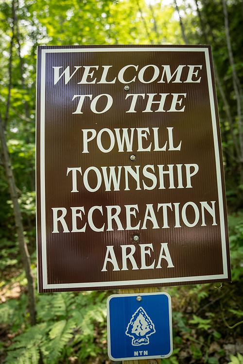The Powell Township Recreation Area near Big Bay, Michigan.