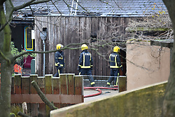 © Licensed to London News Pictures. 23/12/2017. London, UK. Dozens of firefighters tackle a huge blaze at London zoo in Central London. Photo credit: Peter Macdiarmid/LNP