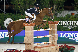 Delmotte Nicolas, (FRA), Number One d Islo Un Prince, FEI President<br /> Logines Challenge Cup<br /> Furusiyya FEI Nations Cup Jumping Final - Barcelona 2015<br /> © Dirk Caremans<br /> 25/09/15