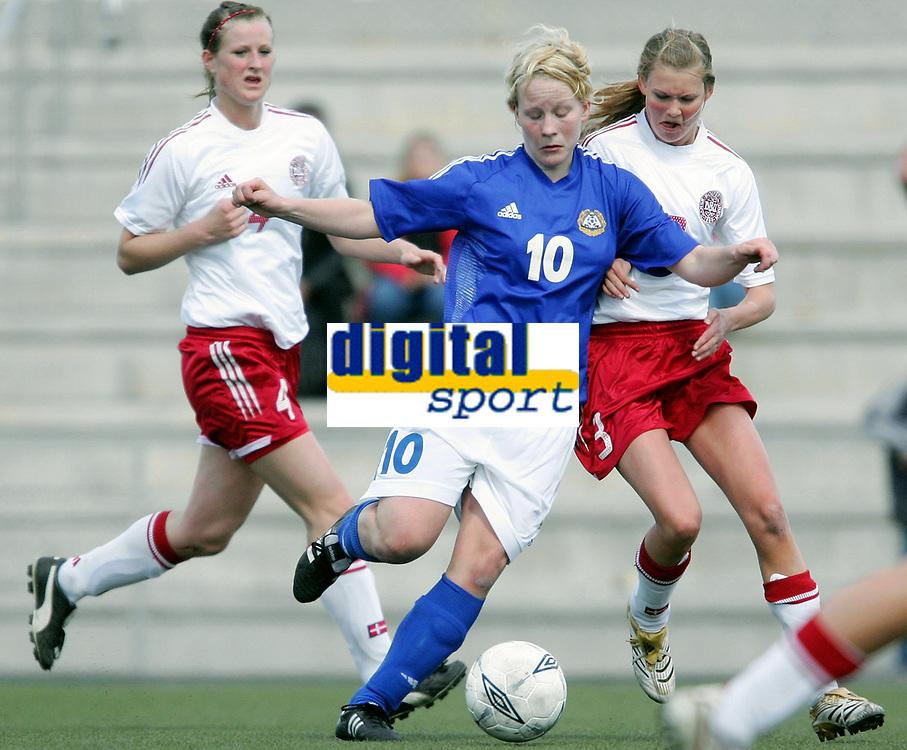 Fotball<br /> Four Nations Tournament Female U17<br /> 3rd place match<br /> Finland v Denmark 2-0 / Finland v Danmark 2-0<br /> 14.05.2006<br /> Foto: Morten Olsen, Digitalsport<br /> <br /> Katariina Henriksson - Ilves / FIN