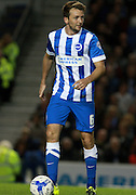 Brighton central midfielder Dale Stephens controls the midfield during the Sky Bet Championship match between Brighton and Hove Albion and Rotherham United at the American Express Community Stadium, Brighton and Hove, England on 15 September 2015. Photo by Bennett Dean.