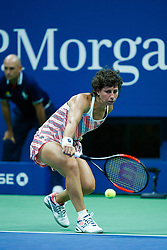 September 5, 2018 - Flushing Meadow, NY, U.S. - FLUSHING MEADOW, NY - SEPTEMBER 05: CARLA SUAREZ NAVARRO (ESP) day ten of the 2018 US Open on September 05, 2018, at Billie Jean King National Tennis Center in Flushing Meadow, NY. (Photo by Chaz Niell/Icon Sportswire) (Credit Image: © Chaz Niell/Icon SMI via ZUMA Press)