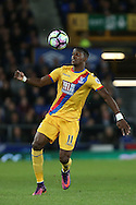 Wilfried Zaha of Crystal Palace in action. Premier league match, Everton v Crystal Palace at Goodison Park in Liverpool, Merseyside on Friday 30th September 2016.<br /> pic by Chris Stading, Andrew Orchard sports photography.