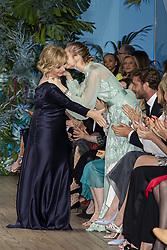 Alberta Ferretti, Pierre Casiraghi, Beatrice Borromeo attend the Alberta Ferretti cruise collection fashion show held at Monaco Yacht Club, Monaco on May 18 , 2109. Photo by ABACAPRESS.COM
