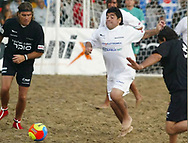 Maradona playing beach soccer