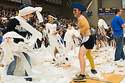 John Brown University v Barclay in the 35th annual Toilet Paper game in Siloam Springs, Arkansas on October 30, 2015.
