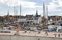 HARLINGEN  - De stad Harlingen met de haven. ANP COPYRIGHT KOEN SUYK
