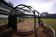 CHICAGO - APRIL 5:  A general view of the playing field early in the morning prior to the Opening Day game between the Chicago White Sox and Cleveland Indians on April 5, 2010 at U.S. Cellular Field in Chicago, Illinois.  The White Sox defeated the Indians 6-0.  (Photo by Ron Vesely)