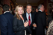 KATE MOSS; MARIO TESTINO, Graydon Carter hosts a diner for Tom Ford to celebrate the London premiere of ' A Single Man' Harry's Bar. South Audley St. London. 1 February 2010
