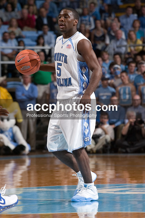 02 December 2006: North Carolina guard (5) Ty Lawson during a 75-63 North Carolina Tar Heels victory over the Kentucky Wildcats at the Dean Smith Center in Chapel Hill, NC.<br />