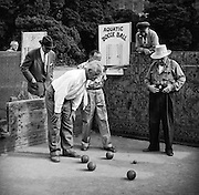 Men playing Bocce ball Aquatic Park, San Francisco
