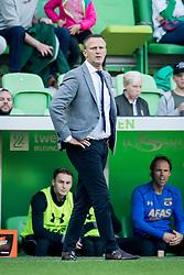 coach John van den Brom of AZ during the Dutch Eredivisie match between FC Groningen and AZ Alkmaar at Noordlease stadium on October 15, 2017 in Groningen, The Netherlands