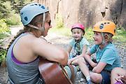 Telluride Academy's CT Uno's 4.2 Rock Climbing at Bilk Creek in Illium, Colorado on July 31, 2018.  (Photo by Rohanna Mertens)