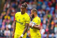 Football - 2021/2022  Premier League - Crystal Palace vs Brentford - Selhurst Park  - Saturday 21st August 2021.<br /> <br /> Ivan Toney (Brentford FC) and Bryan Mbeumo (Brentford FC) discuss options for the free kick at Selhurst Park.<br /> <br /> COLORSPORT/DANIEL BEARHAM