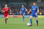 AFC Wimbledon midfielder Anthony Hartigan (8) dribbling during the EFL Sky Bet League 1 match between AFC Wimbledon and Accrington Stanley at the Cherry Red Records Stadium, Kingston, England on 6 April 2019.