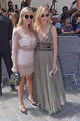 Valentina Ferragni and Chiara Ferragni arriving at the Dior show during Haute Couture Paris Fashion Week Fall/Winter 2018/19 held at National Archives in Paris, France on July 02, 2018. Photo by Julien Reynaud/APS-Medias/ABACAPRESS.COM