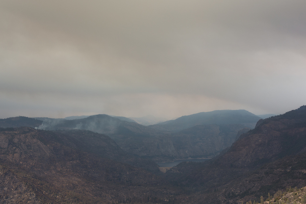 As of September 4 2013 the Rim Fire, located near the South-West border of Yosemite National Park and Stanislaus National Forest, had burned 235,841 acres.  It had destroyed 11 residences and resulted in 5 injuries, and was 75 percent contained.